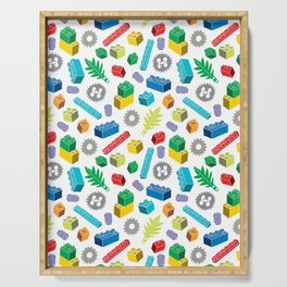 Colourful Building Blocks Serving Tray