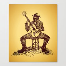 The Blues Man Canvas Print