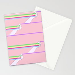 Feminist power pattern Stationery Cards