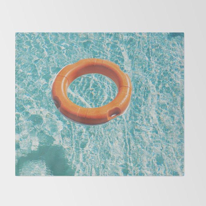 Swimming Pool III Throw Blanket