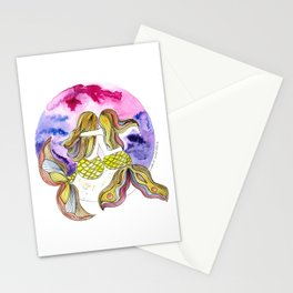 Mamá Sirena e hija Stationery Cards