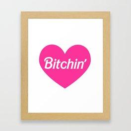 Bitchin' Pink Barbie Heart Framed Art Print