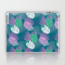 Firework textured floral on a blue/green base Laptop & iPad Skin
