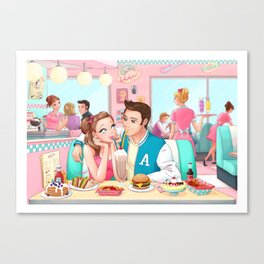 Love at Peggy's Canvas Print