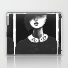 Contemporary Black and White Collar  Laptop & iPad Skin