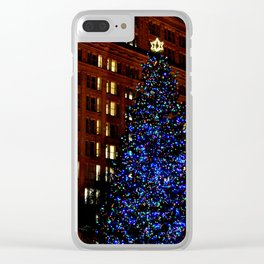 CHRISTMAS TREE - DOWNTOWN - HAPPY HOLIDAYS Clear iPhone Case