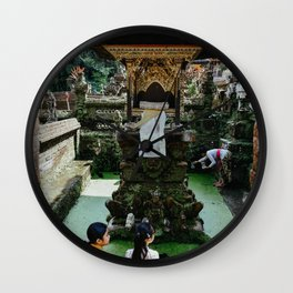 Water Temple in Ubud, Bali | Travel photography | Printable photo for you wall | Indonesia Wall Clock