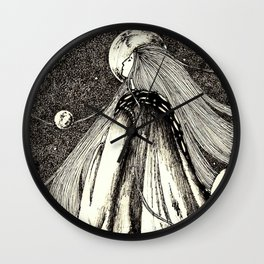 Lady of the mountains Wall Clock