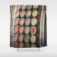 the national Shower Curtains featuring Old National by mofoto
