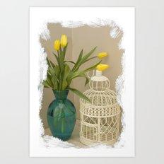 A corner in my home Art Print