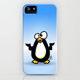 Pondering Penguin iPhone Case