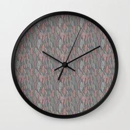 pastel floral Wall Clock