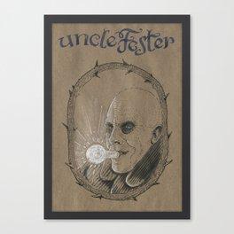 Uncle Fester (DRAWLLOWEEN 31/31) Canvas Print