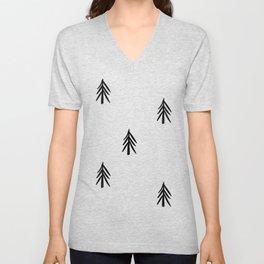 nordic fir trees Unisex V-Neck