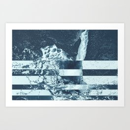 Swell Zone Splatter Ice Art Print