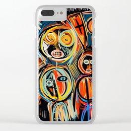 Anima Mia Street Art Graffiti Art Brut Clear iPhone Case