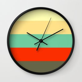 Retro Color Palettes Wall Clock
