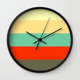 Retro Color Palettes Wall Clock