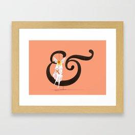 Angeline & Garamond Framed Art Print