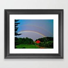 Rainbow x 2 Framed Art Print