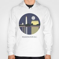 washington Hoodies featuring Washington D.C by uzualsunday