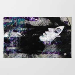 Abstract Art Composition Female face Rug