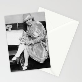 Showing Her Flask - Hortense Rhea Stationery Cards