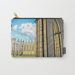 Gothic Architecture with Peaceful Yard in Oxford UK Carry-All Pouch