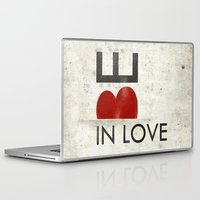 onesie Laptop & iPad Skins featuring BE IN LOVE by Lulla