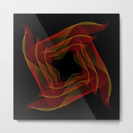 Fire background. The red-orange glow to go pattern background. Metal Print
