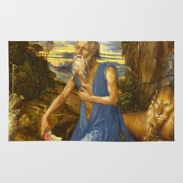 Saint Jerome in the Wilderness by Albrecht Dürer Rug