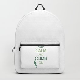 Keep Calm And Climb On gr Backpack