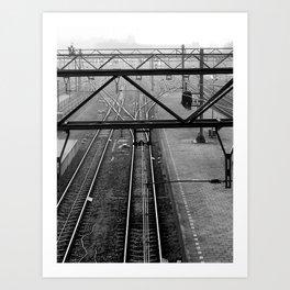 Morning train Art Print