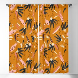 ADOBO GARDEN OCHRE Blackout Curtain