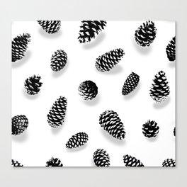 PINE CONE BLACK AND WHITE Canvas Print