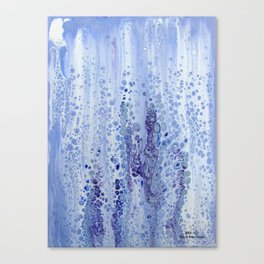 Acrylic Pour Blue Canvas Print