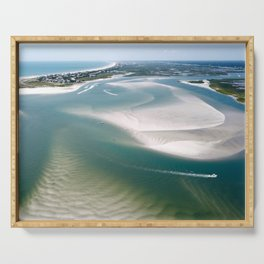 Rich's Inlet at the North End of Figure 8 Island | Wilmington NC Serving Tray