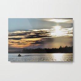 Sunset on Woman Lake Metal Print