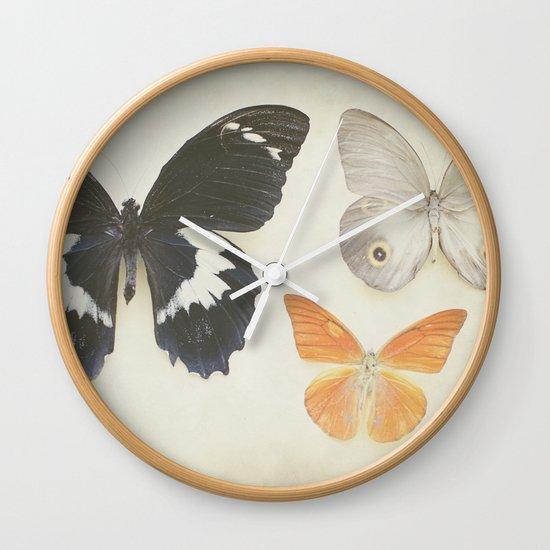 Brown Butterflies  Wall Clock