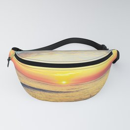 Summer Sunset Ocean Beach - Nature Photography Fanny Pack