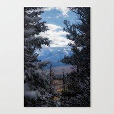 The Mountains through the Trees Canvas Print