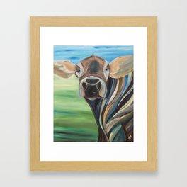 Cow Eyes Framed Art Print