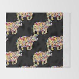 Hippo: Spirit of Confidence Throw Blanket