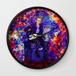 12th Doctor abstract art Wall Clock