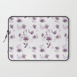 Violet Floral pattern Laptop Sleeve