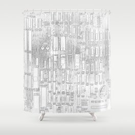 Robot People   (A7 B0019) Shower Curtain
