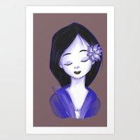 mulan Art Prints featuring Mulan by Lilolilosa