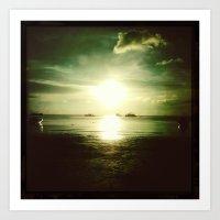 Thai Sunset Art Print