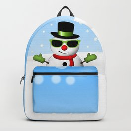 Cool Snowman and Sparkly Christmas Trees Backpack
