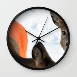 White Tail Deer (3 of 3) - SUNKISSED Wall Clock